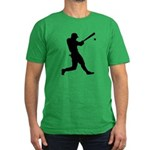 Baseball Player Men's Fitted T-Shirt (dark)