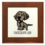 Chocolate Lab Framed Tile