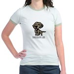 Chocolate Lab Jr. Ringer T-Shirt