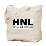 Honolulu Airport Code Hawaii HNL Solid Tote Bag