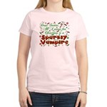 Dear Santa Sparkly Vampire Women's Light T-Shirt
