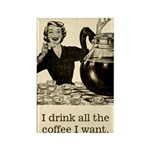 Coffee Fanatic Fridge Magnet