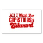 Edward Christmas Rectangle Sticker 10 pk)