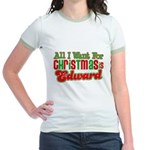 Christmas Edward Jr. Ringer T-Shirt
