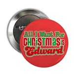 Christmas Edward 2.25&quot; Button (10 pack)