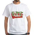 Christmas Emmett White T-Shirt