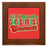 Christmas Emmett Framed Tile