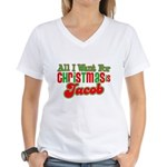 Christmas Jacob Women's V-Neck T-Shirt