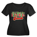 Christmas Jacob Women's Plus Size Scoop Neck Dark