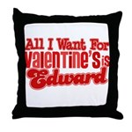 Edward Valentine Throw Pillow