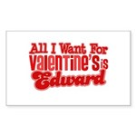 Edward Valentine Rectangle Sticker 10 pk)