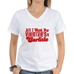 Carlisle Valentine Women's V-Neck T-Shirt