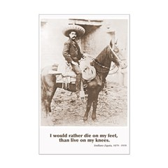 Emiliano Zapata Quote on Horseback Poster Print > Mexican ...