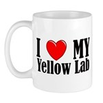 I Love My Yellow Lab Mug
