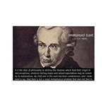 Immanuel Kant Reason Rectangle Magnet (100 pack)