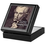 Immanuel Kant Reason Keepsake Box