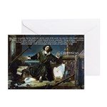 Nicolaus Copernicus Cosmos Greeting Cards (Package