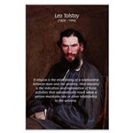 Leo Tolstoy Religion Morality Large Poster
