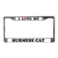 Burmese Cat License Plate Frames