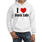 I Love Black Labradors Hooded Sweatshirt
