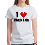 I Love Black Labradors Women's T-Shirt