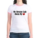 Heart Owning Rescue Lab Jr. Ringer T-Shirt