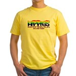 Anti Liberal Hippies Yellow T-Shirt