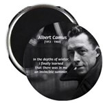"Albert Camus Motivational 2.25"" Magnet (100 pack)"