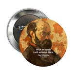 "Cezanne Famous Paris Quote 2.25"" Button (100 pack)"