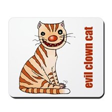Evil Clown Cat Mousepad