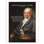Goya Fantasy Monster Quote Small Poster