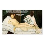 Impressionist Art Manet Rectangle Sticker