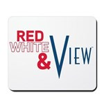 Red, White & View Mousepad