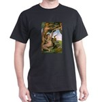 Sistine Chapel Adam & Eve Black T-Shirt