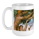 Sistine Chapel Adam & Eve Large Mug