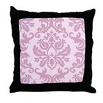 Lilac Damask Throw Pillow