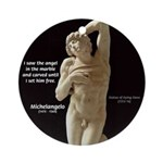 Michelangelo Angel in Sculpture Ornament (Round)