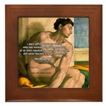 Michelangelo Nude Painting Framed Tile