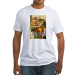 Michelangelo Art Philosophy Fitted T-Shirt