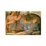 Michelangelo Art Philosophy Rectangle Magnet (100