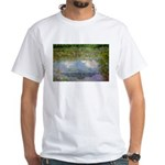 Monet Painting: Beauty Quote White T-Shirt