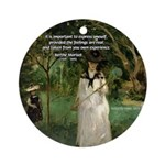 Berthe Morisot Art Quote Ornament (Round)