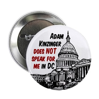 Adam Kinzinger does not speak for me in DC campaign button