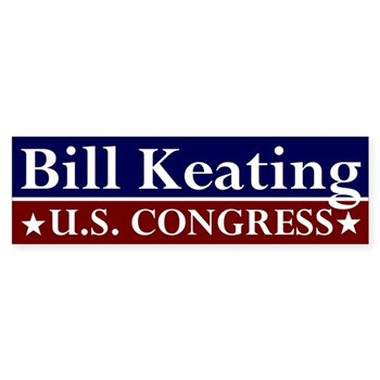 Bill Keating: U.S. Congress bumper sticker