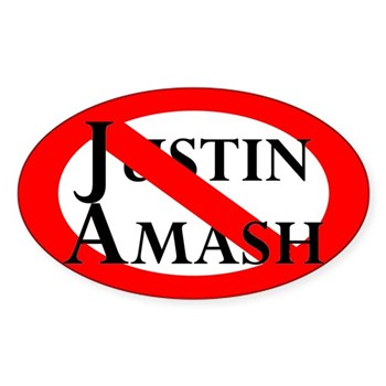 Red Slash Through Justin Amash congressional bumper sticker