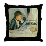 Female Artist Morisot Quote Throw Pillow
