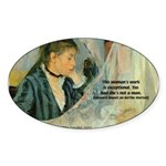 Female Artist Morisot Quote Oval Sticker