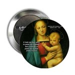 Raphael Madonna Painting Button