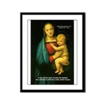 Raphael Madonna Painting Framed Panel Print