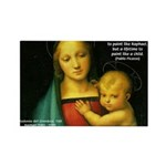 Raphael Madonna Painting Rectangle Magnet (10 pack